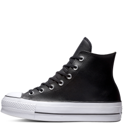 CONVERSE ALL STAR CHUCK TAYLOR LIFT CLEAN LEATHER - PLATEFORME CUIR