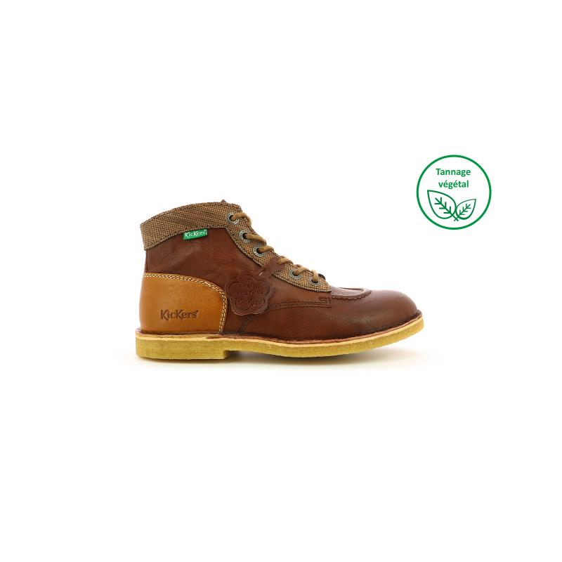 Chaussures femme Kickers KICK LEGEND cuir marron foncé